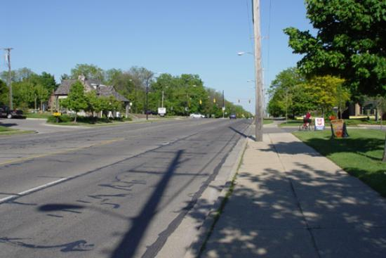 The University Inn: A View Of The Neighborhood; This Is The Street Right In