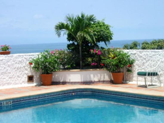 Pool side area at the Hotel Suites La Siesta