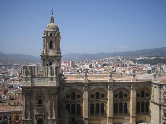 AC Hotel Malaga Palacio: Cathedral from hotel roof. Across the street