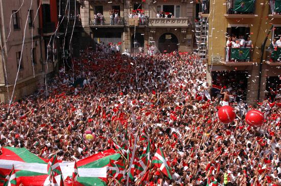 Pamplona, Spanje: the fiesta begins