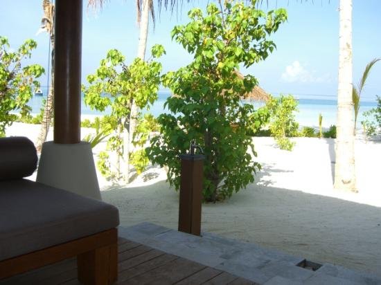 Baros Maldives: View from verandah beach bungalow