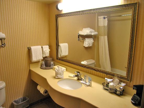 Hampton Inn Laramie: Room 333 large ans spotless bathroom