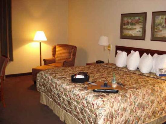 Hampton Inn New Albany: Nice pillows, comfy chair
