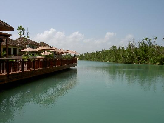 Fairmont Mayakoba: View of La Laguna Terrace from the Infinity Pool