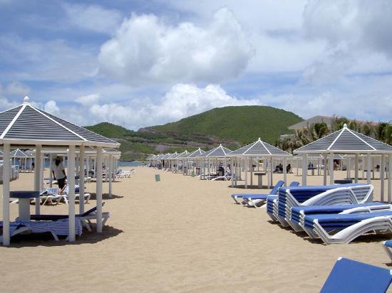 St Kitts Marriott Resort The Royal Beach Cabanas At Frigate Bay
