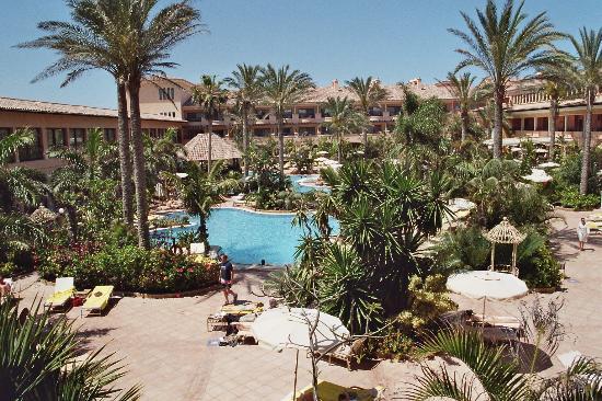 Gran Hotel Atlantis Bahia Real : Les picines et le jardin