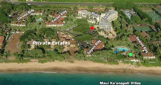Aston Maui Kaanapali Villas: Arial view of MKV