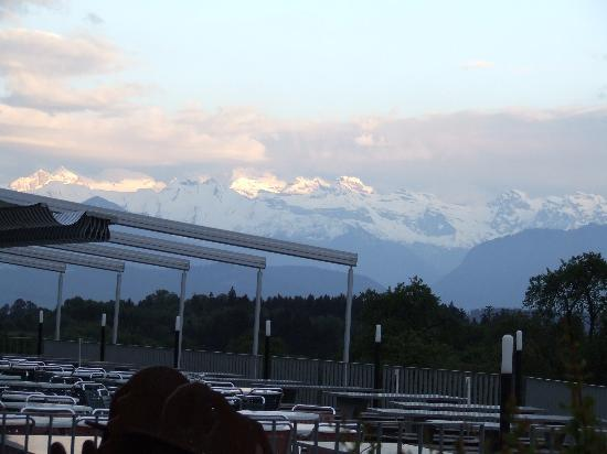 Holiday Inn Express Luzern: the view from the restaurant next door, on a clear evening