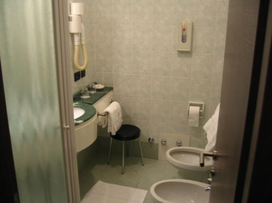 Hotel Al Cason : View of bathroom.  Shower is to the left.