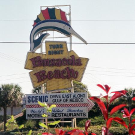 Pensacola Beach, FL: he will point you in the right direction.