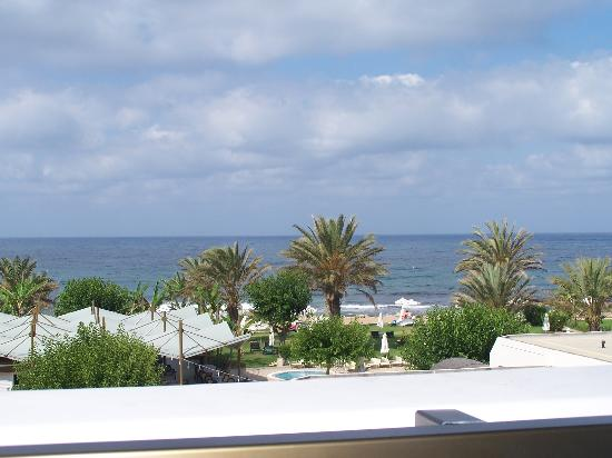 Constantinou Bros Athena Beach Hotel: Sea View (sat down) from balcony