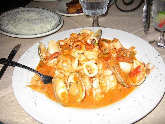 Elizabeth, NJ: mixed seafood in  tomato cream sauce