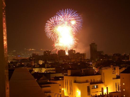 Aparthotel Veramar Malaga: Fireworks !