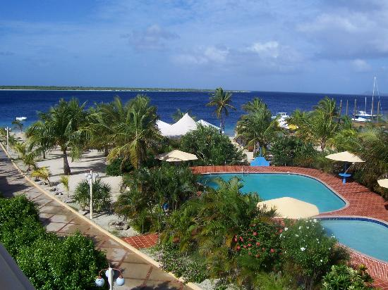 Eden Beach Resort: View from our room - the pool and the beach