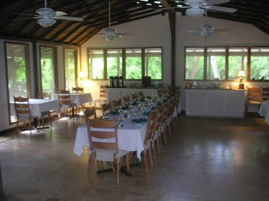 Tiamo Resort: The setup for family style dinner if you want to...
