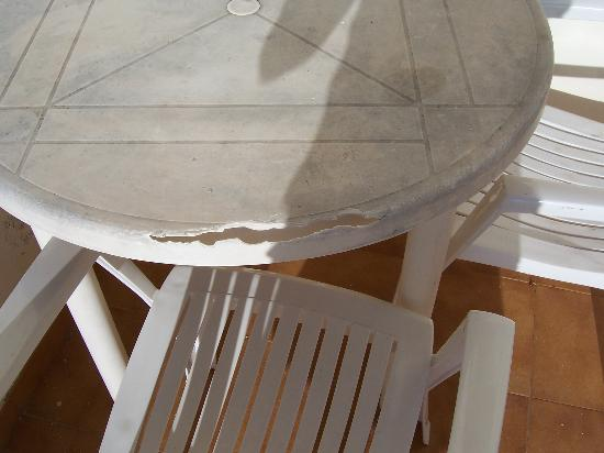 Las Adelfas: This is our patio table