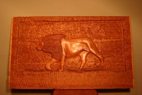 Friendship Inn Motel & RV Park: One of my carvings!