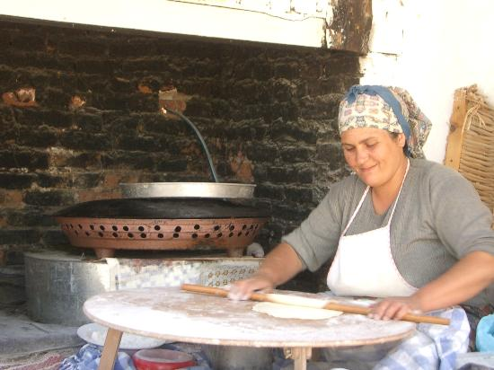 Zeus Pension: The woman cooking Trukish Pancake