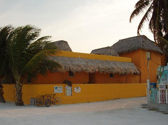 Seaside Cabanas: Seaside at sunset, from the beach (cabana #2 in front)