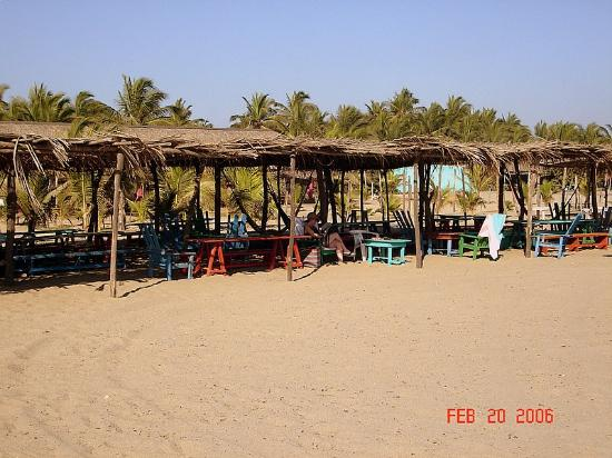 Barra Vieja Beach : A nice place to get out of the sun.