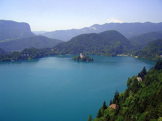 ‪‪Bled‬, سلوفينيا: Lake Bled from the Grad‬
