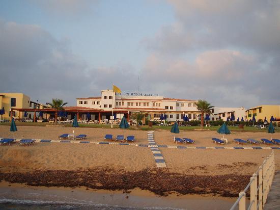 Kefalos Beach Tourist Village: View of Kefalos Beach from beach jetty