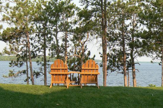 Northern Bay Resort: View of castle rock lake -- they have the adirondac chairs on each patio/balcony
