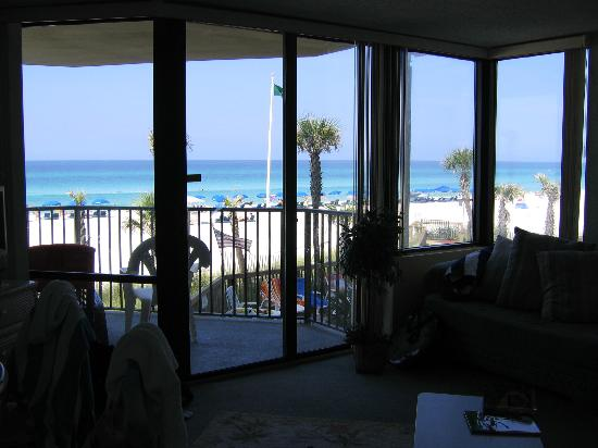 Sunbird Suites : View of beach from inside condo