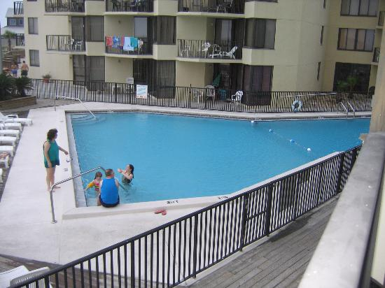 Sunbird Suites : View of pool from our condo