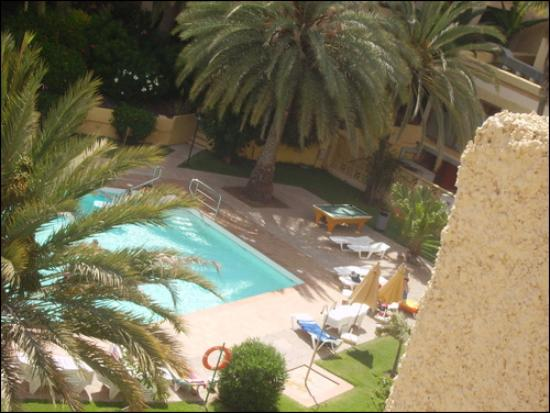 Jardin del Atlantico: View of one of the side pools from our balcony