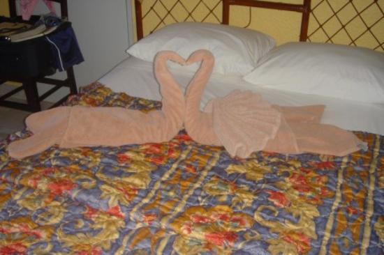 Beach House Imperial Laguna Cancún Hotel: Towel Birds left on bed