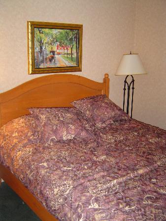 Hôtel Château Bellevue : Queen bed