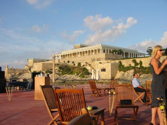 The Westin Dragonara Resort, Malta: View towards the casino, sea on left