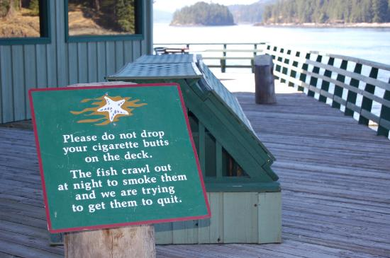 April Point Resort & Spa : Sign on the dock