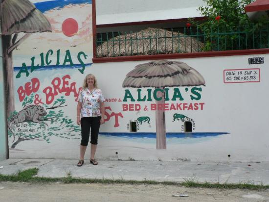 Alicia's Bed & Breakfast: Outside Chuco & Alicia's (with my wife)