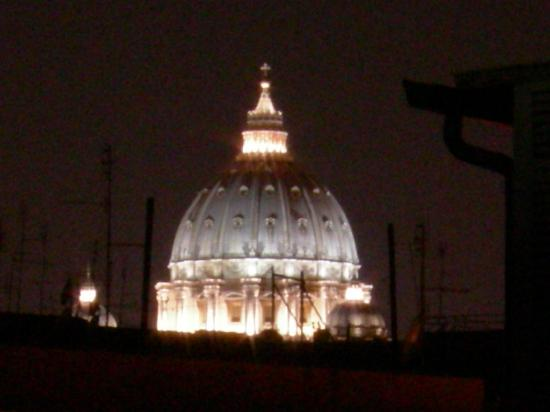 Domus Carmelitana: View of St. Peter's Dome from Roof Garden