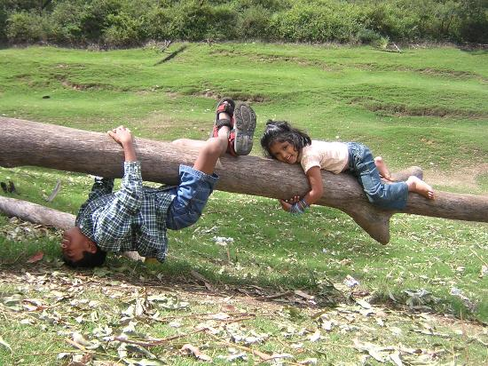 Munnar Inn: Kids happy to play around
