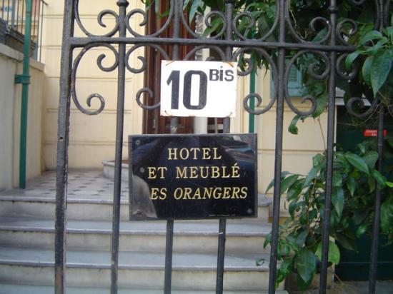 Hotel les Orangers : Entrance