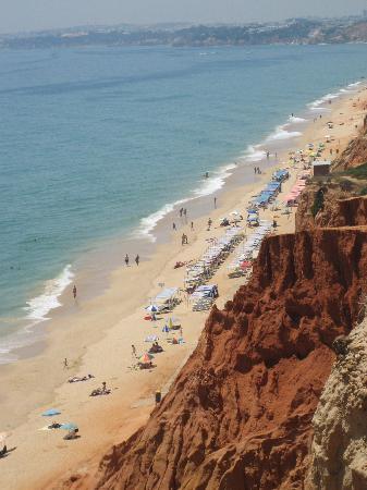 Alfamar Beach & Sport Resort: The beach seen from the cliffs
