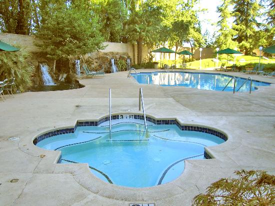 Sacramento Marriott Rancho Cordova: Whirlpool spa with pool in background