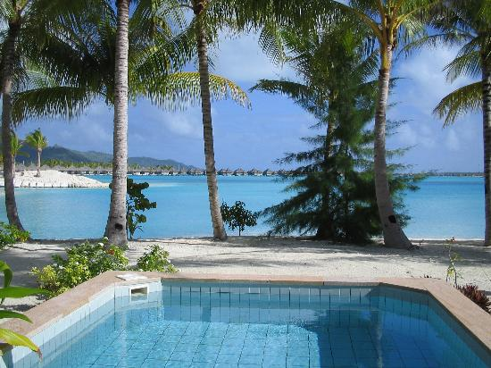 The St. Regis Bora Bora Resort: View from Beach Villa