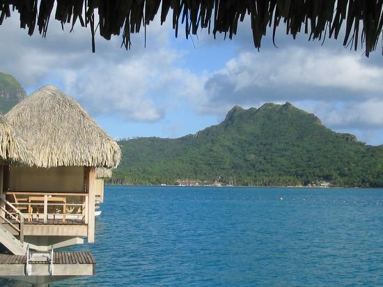 St. Regis Bora Bora Resort: side view from OWB