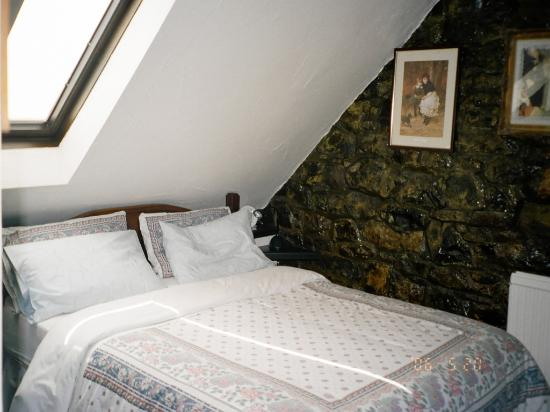 Limestone Cottage Bed and Breakfast: comfortable bed and skylight