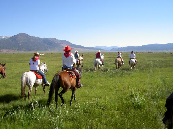 Hunewill Guest Ranch: Riding out