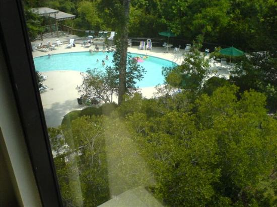 ‪‪Hampton Inn & Suites Wilmington/Wrightsville Beach‬: view of pool from room on 4th floor‬