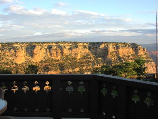 Balcony view of sunrise picture of el tovar hotel grand for El tovar grand canyon