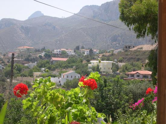 Bellapais Monastery Village: View from pool