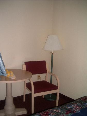 Quality Inn & Suites : Simple chair and lamp