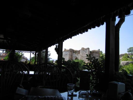 Hotel Bella: poor phot lighting but another rooftop terrace shot