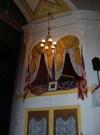Ford's Theatre : The booth where Lincoln was shot.